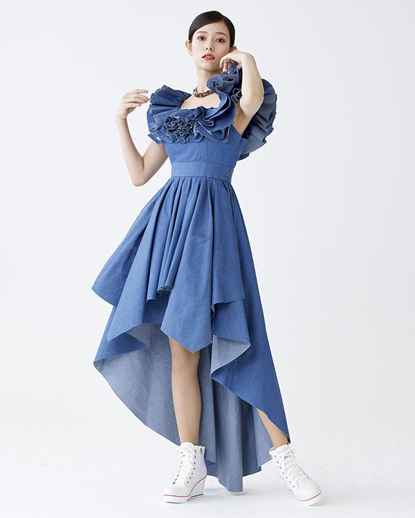 ミルフィーユデニムドレス